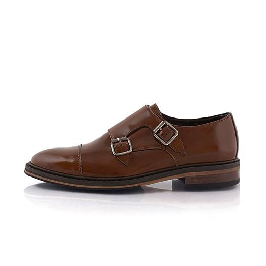 Bourgeois Boheme Men's Vegan Benedict Double Monk Dress Shoe