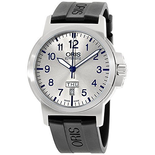 Oris BC3 Silver Dial Silicone Strap Men's Watch 73576414161RS