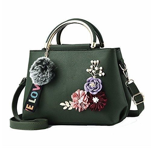 Des Sacs à Trois Fleurs Sacs à ZLL Femmes Bandoulière à Women's Main bag Sacs Green Dimensions En Sacs Messager De wqExgXBt