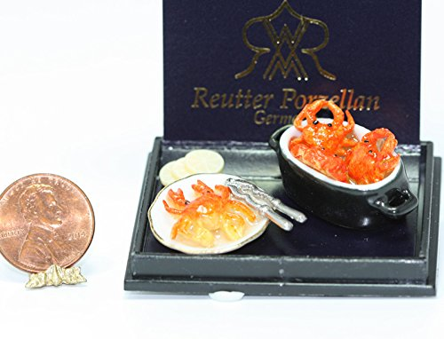 Dollhouse Miniature Maryland Crab Pot Set by Reutter Porcelain (Maryland Crab Houses)