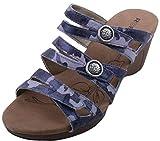 Women's Romika, Jamaika 02 high heel slide Sandal OCEAN BLUE 3.8 M