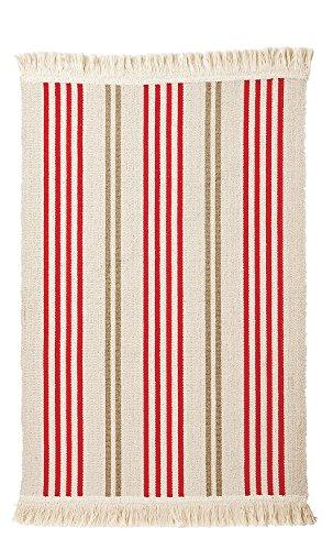 Ikea Teppich Signe Baumwolle 55 X 85cm Beige Rot Braun Amazon De