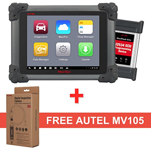 Autel Maxisys MS908P Diagnostic Scanner – OBD2 Automotive Scan Tool with MaxiVideo MV105 including ECU Coding, ECU Programming and Video Inspection for Professional Technicians