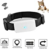 TKSTAR Mini GPS Tracker for Small Cat Dog Pet WiFi Position Cat Dog Finder with GPS Collar TK911-Black