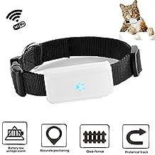 TKSTAR Mini GPS Tracker for Small Cat Dog Pet Wifi Position Cat Dog Finder with GPS Collar TK911-Black