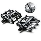 "Fypo Bike Pedals, Bicycle Cleats for Mountain Bike, Lightweight Aluminum Alloy CNC Sealed Bearing Cycling Pedal, 9/16"" Pack of 2"