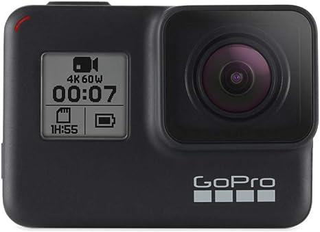 GoPro HERO7 Black - Cámara de acción (sumergible hasta 10m, pantalla táctil, vídeo 4K HD, fotos de 12 MP, transmisión en directo y estabilizador), color negro: Gopro: Amazon.es: Electrónica