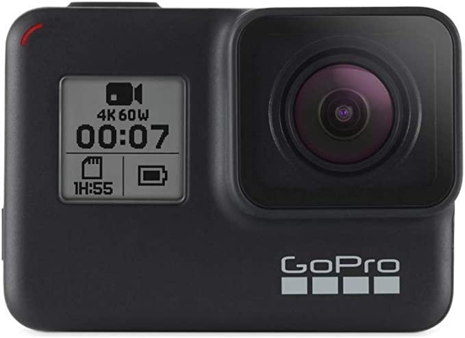 GoPro HERO7 Black — Caméra Numérique Embarquée Étanche avec Écran Tactile, Vidéo HD 4K, Photos 12 MP, Diffusion en Direct et Stabilisation Intégrée