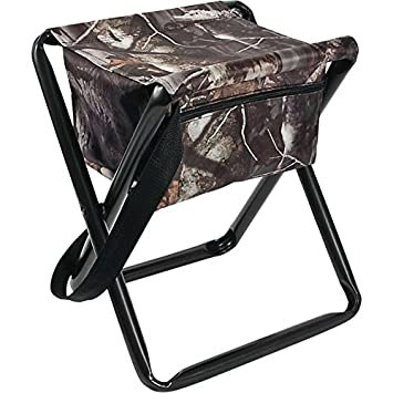 Allen Company Camo Folding Hunting Stool with Storage Pouch- Next G2 Camo – 12L x 14.5W x 17H inches