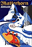 Disneyland Matterhorn Bobsled Vintage Attraction Poster
