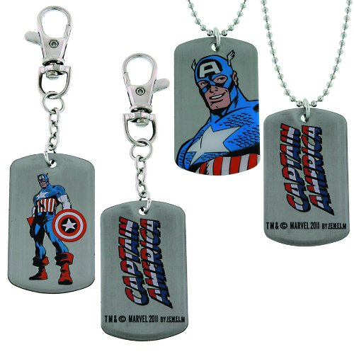 Jewel M Captain America: Dog Tag and Keychain Box Set