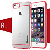 iPhone 6 Case - Poetic Apple iPhone 6 Case [Atmosphere Series] - Slim-Fit Transparent Hybrid Case for Apple iPhone 6 (4.7-inch) Clear/Red (3-Year Manufacturer Warranty from Poetic)