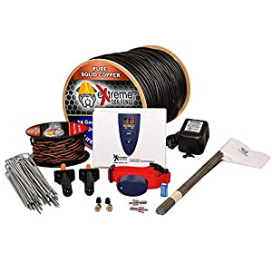 Underground Electric Dog Fence Ultimate – Extreme Pro Dog Fence System for Easy Setup and Maximum Longevity and Continued Reliable Pet Safety – 1 Dog | 1000 Feet Pro Grade Dog Fence Wire