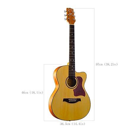 JIAXIAO Ship Principiantes Principiantes practican Guitarra ...