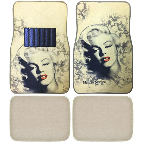 Amazon Marilyn Monroe Print Design Carpet Car SUV Truck Floor Mats 4 PCS Automotive