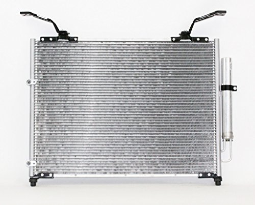 A-C Condenser - Pacific Best Inc For/Fit 3182 03-08 Honda Pilot 01-02 Acura MDX Parallel Flow Aluminum