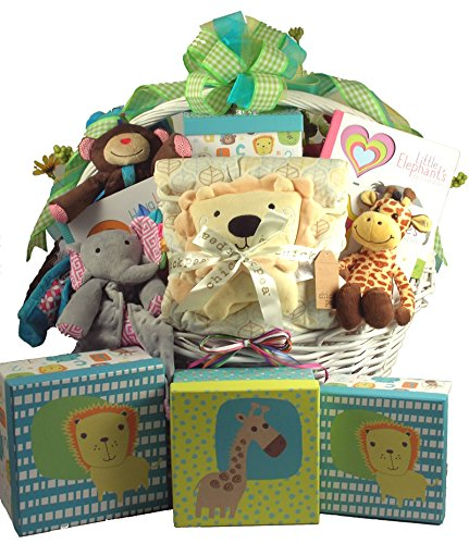 Snuggle Safari, Large Baby Gift Basket
