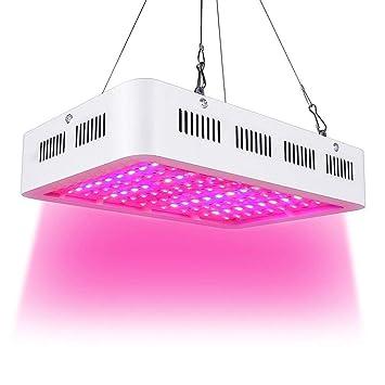 1000W LED Lámpara de Ia Planta de Espectro Completo Crece Ia Luz de la Planta Grow Light Ligera Para Plantas de Interior Verdura Flores: Amazon.es: Hogar