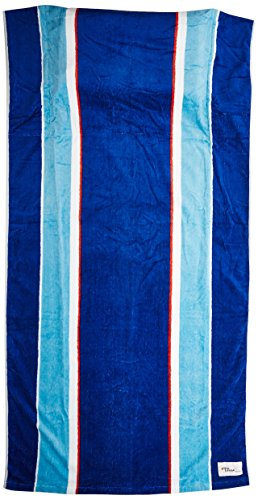 Tillow Oversized Beach Towel with Pillow, Water-resistant Pocket and Touch Screen Phone Pocket, Blue Stripe Design by TheTillow by TheTillow