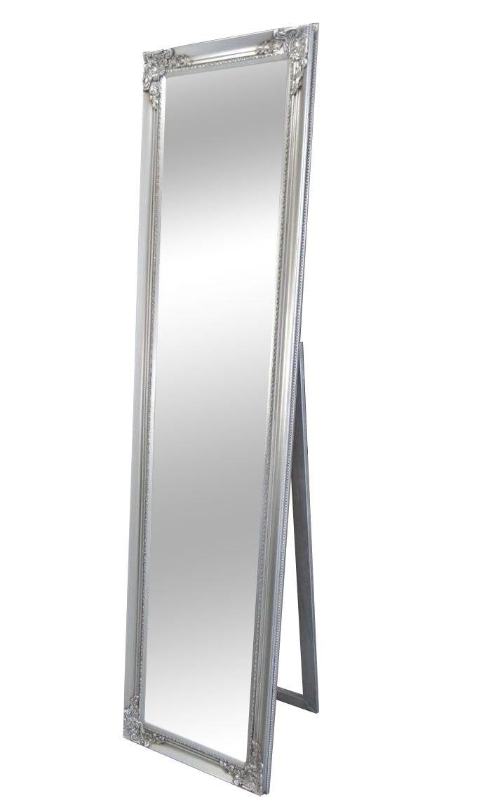 Livitat® Ankleidespiegel Standspiegel Wandspiegel antik barock Rokoko 160 x 40 cm NO (Silber)