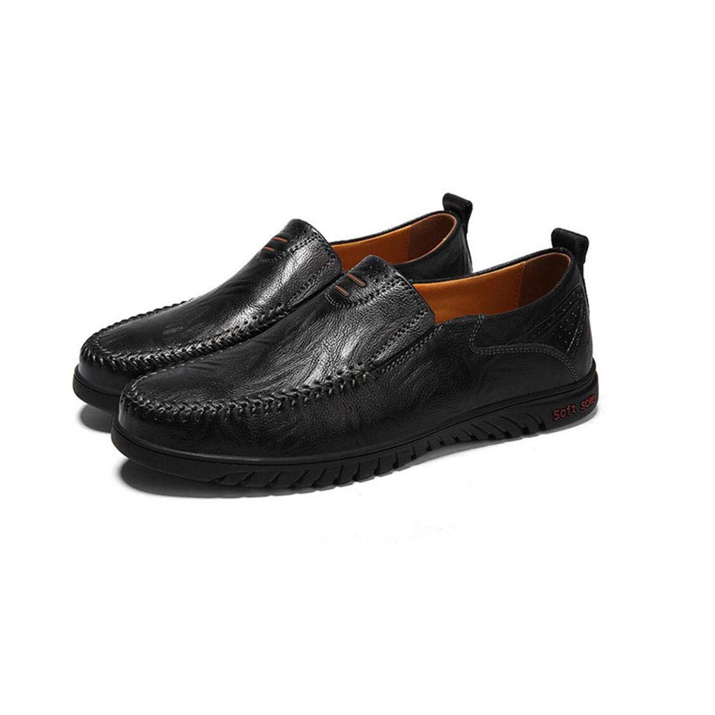 Color : Black, Size : 39 EU zxcvb Men Loafer Slip-on Shoes Cushion Slip Resistant Genuine Leather Fashion Driving Boat Sneakers Casual Walking Performance Dress Shoes