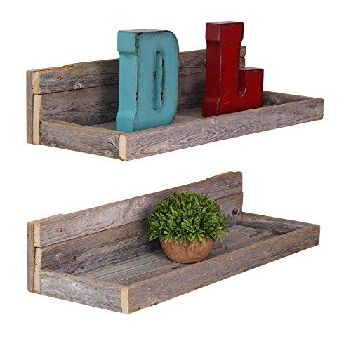 Dakoda love reclaimed floating shelves set of 2 usa for Room decor 7d