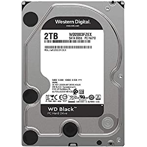 "WD Black 2TB Performance Internal Hard Drive - 7200 RPM Class, SATA 6 Gb/s, 64 MB Cache, 3.5"" - WD2003FZEX"