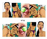 Rastafarian sexy bikini gal Gold grillz nail decals golden black panther nail stickers adult sex games nail vinyls French tip stickers nail tip art metallic flash water transfer nail stickers tattoo