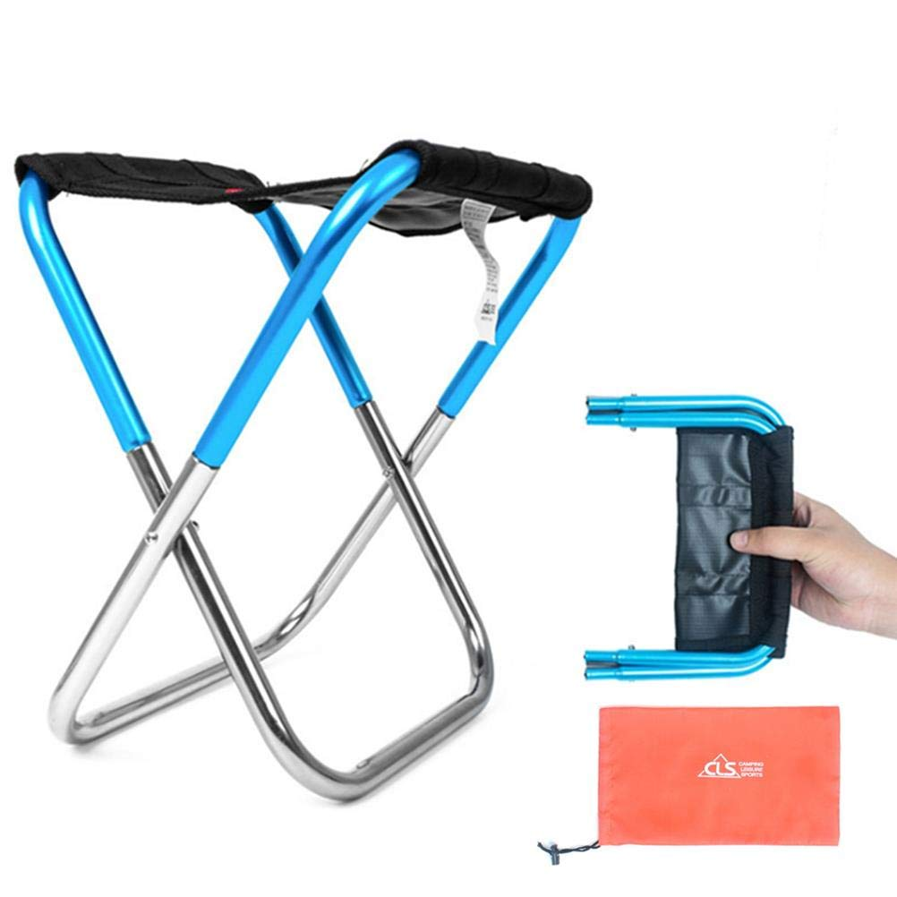 TIANTIAN Portable Folding Camp Chair Folding Table Chair with Bag Folding Stool Campstool for Outdoor Fishing Camping Beach Picnic BBQ