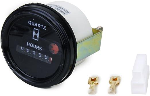 Gazechimp 12 36v Dc Ac Rund Form 6 Digital Anzeige Betriebsstundenzähler Auto