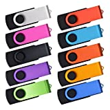 USB Flash Drive 64MB Pack of 10 - Small Capacity Thumb Pen Drive for Data Storage- Kepmem Memory Stick with Mixed Colors