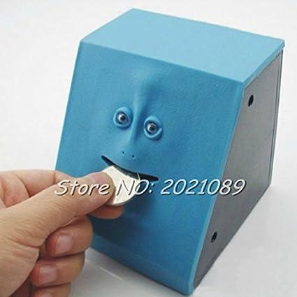 cyale (TM) timelive marca 2017nueva cute Facebank cara Hucha caja de moneda dinero Comer cajas Sensor para los niños regalo Decoración del hogar Hotsale