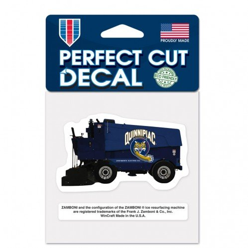 "NCAA Quinnipiac University Perfect Cut Color Decal, 4"" x 4"""