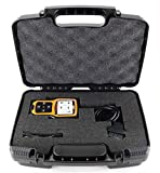 obd ii mpg monitor - Life Made Better Storage Organizer - Compatible with ANCEL A0D410 Enhanced OBD II Vehicle Code Reader And Accessories - Durable Carrying Case – Black