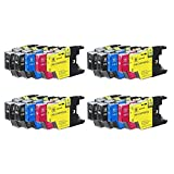 ESTON Compatible Ink Cartridge Replacement For Brother LC75 LC-75 LC-75XL High Yield (20) Pack (8 Black, 4 Cyan, 4 Magenta, 4 Yellow) LC75BK LC75C LC75M LC75Y