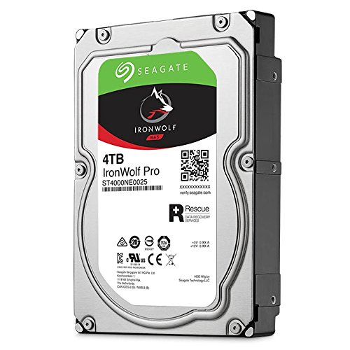 Seagate IronWolf Pro 4TB NAS Internal Hard Drive HDD - 3.5 Inch SATA 6Gb/s 7200 RPM 128MB Cache for RAID Network Attached Storage, Data Recovery Rescue Service (ST4000NE0025) by Seagate (Image #3)