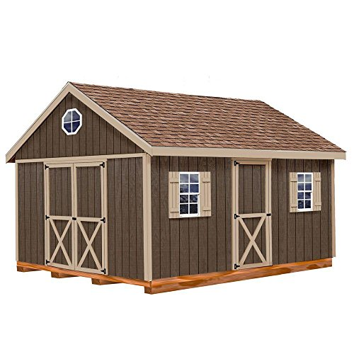 - Easton 12 ft. x 20 ft. Wood Storage Shed Kit with Floor Including 4 x 4 Runners