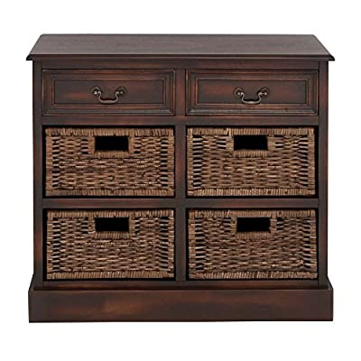 Wooden 4 Basket 28H in. Dresser
