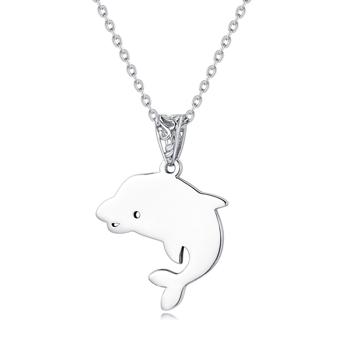 Fine Jewelry Sterling Silver Elegant Animal Charm Pendant Necklace, 18 inches