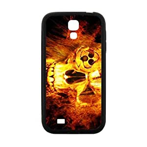 Fire Skull Pattern Hot Seller High Quality Case Cove For Samsung Galaxy S4