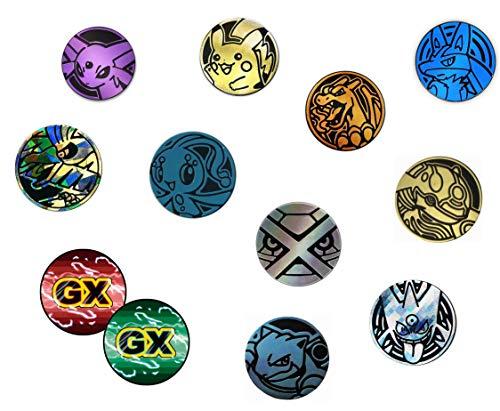 10 Random Pokemon Collectible TCG Coins Plus Custom GX Counter