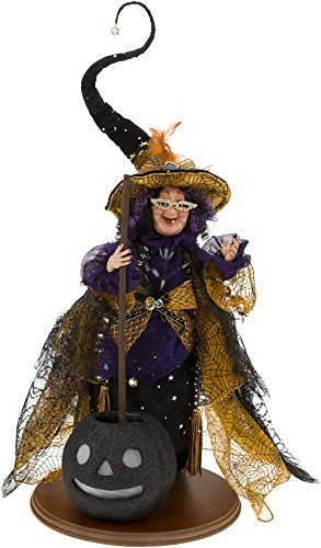 Mark Roberts Halloween Animated Wacky Witch with Cauldron 51-77800 (Mark Roberts Halloween Witches)