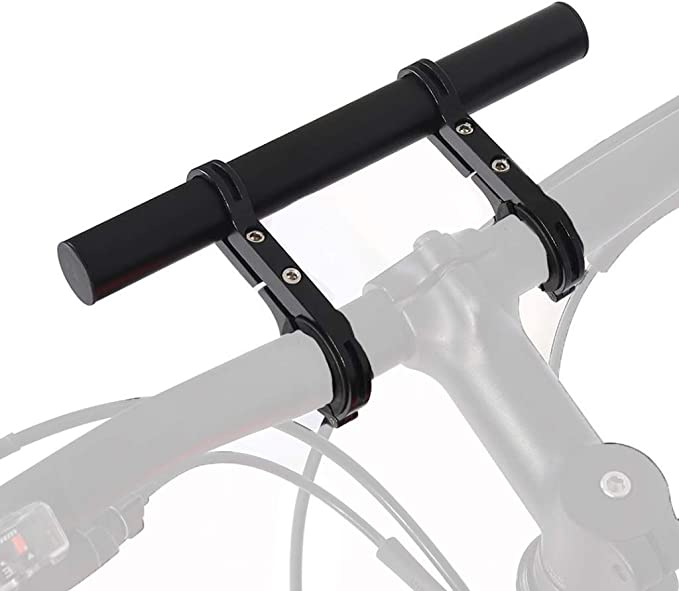 Aluminum Alloy Bicycle Handlebar Extension Double Clamp Bike Bracket Bicycle Accessories for Holding Flashlight Speedometer GPS Phone Mount Holder LYDshop Lucid Bike Handlebar Extender