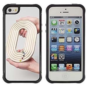 Suave TPU GEL Carcasa Funda Silicona Blando Estuche Caso de protección (para) Apple Iphone 5 / 5S / CECELL Phone case / / Design O 0 Zero Game Grey Race Deep /