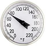 Ajax Scientific Soil Thermometer with Stainless Steel Probe, 20 to 180 Degree F Temperature Range