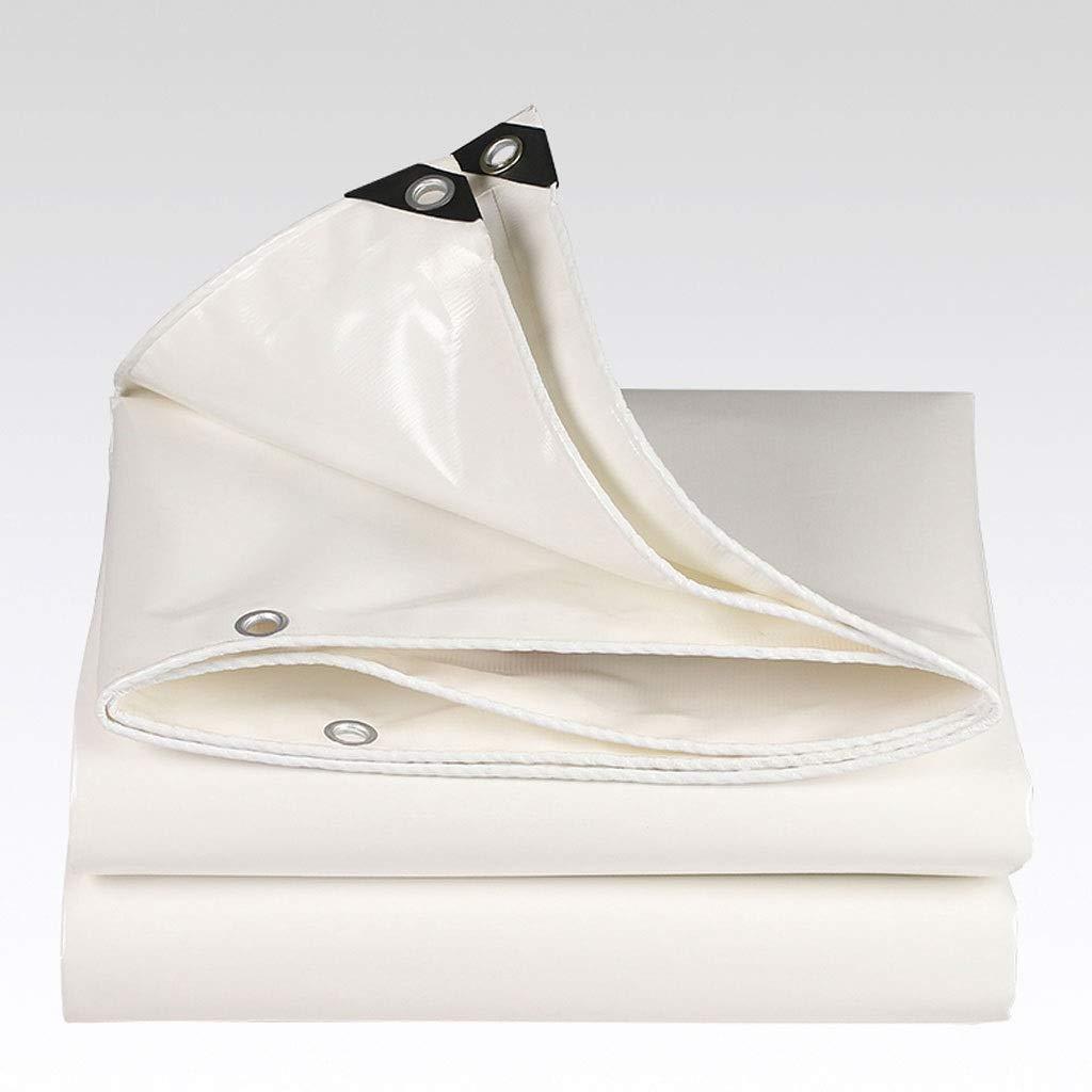 白い防水シートの日焼け止めの防水シートの屋外の両面防水ポリ塩化ビニールの頑丈な防水シートカバー200×300cm (サイズ さいず : 400×500cm) 400×500cm  B07Q8KK2GB