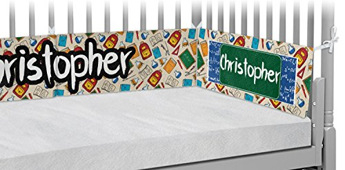 Math Lesson Crib Bumper Pads (Personalized) by RNK Shops