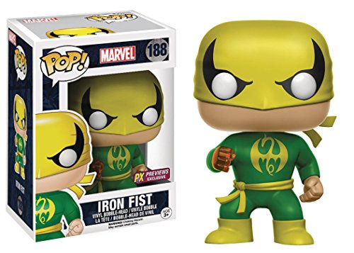 Funko Pop! Marvel Classic Iron Fist Previews Exclusive Vinyl Figure Bundled with Free Pop BOX PROTECTOR CASE