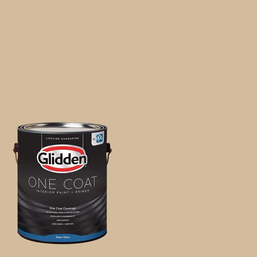 Glidden Interior Paint Primer Beige Pony Tail One Coat Semi Gloss 1 Gallon Amazon Com Home Improvement