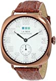 La Mer Collections Women's LMOVW2030 Brown Copper Oversized Vintage Watch